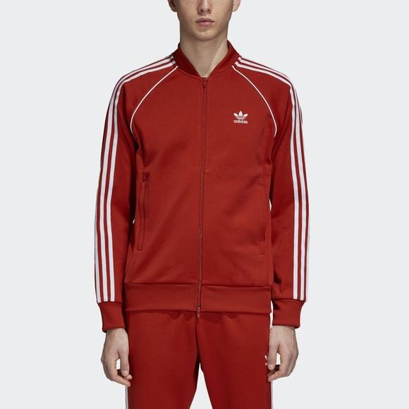 574b095ff348 adidas Red Track Jacket Men s